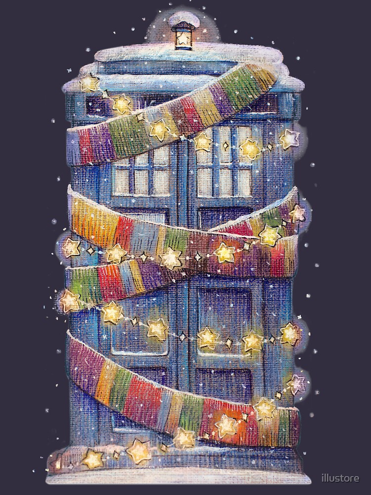 Christmas Police Box by illustore