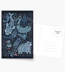 Arctic animals Postcards