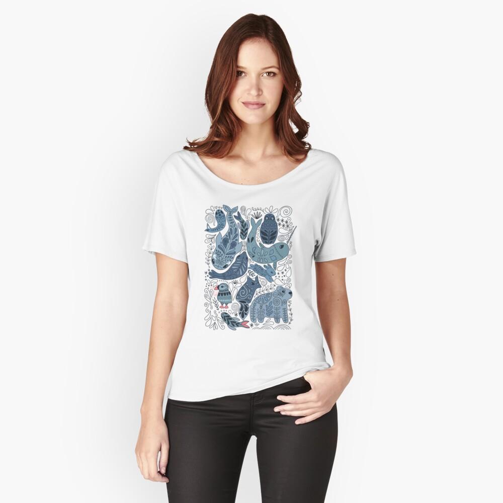 Arktische Tiere Loose Fit T-Shirt
