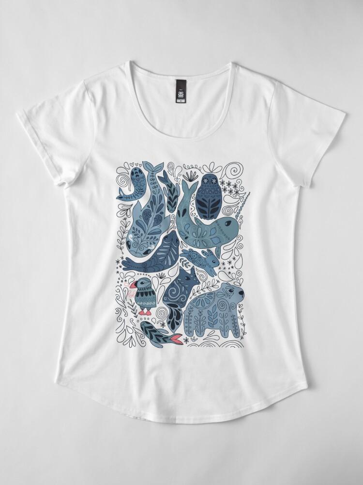 Alternative Ansicht von Arktische Tiere Premium Rundhals-Shirt