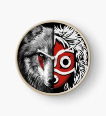Wolf white and Princess mask Clock