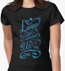 BEST SELLERS BJ983 Love All Around Us Hot Item Best Trending Women's Fitted T-Shirt