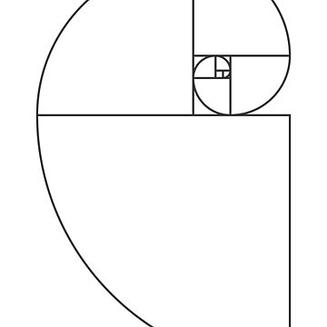 Golden Ratio Spiral - Sections Outline by joshdbb