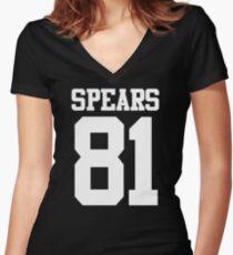 SPEARS 81 Women's Fitted V-Neck T-Shirt