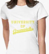 University of Grenwich letterman and script - Yellow Women's Fitted T-Shirt