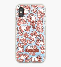 Red Panda all over pattern spread iPhone Case