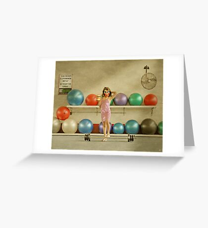 Three Iced Donuts Greeting Card