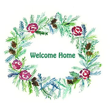 Welcome Home: Watercolour Design by MADEBYCATHERINE