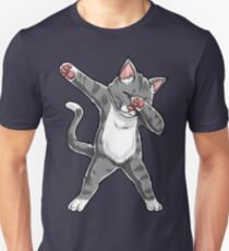 Abtupfendes Katzen-Hemd-lustige Katzen meme Kitty-Kätzchen-Tupfen-Katzen-Liebhaber-Geschenk-T-Shirt Slim Fit T-Shirt
