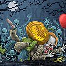Pumpkin Defeats The Clown by Meerkatsu