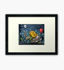 Pumpkin Defeats The Clown Framed Print