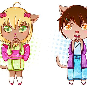 Catsumi and Catsuragi by ranchi