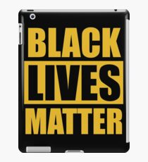 Black Lives & rights Matter movement protest art  iPad Case/Skin