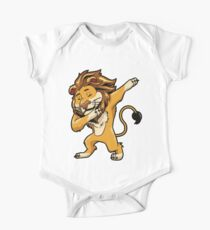 Dabbing Lion Shirt Print Dab Cat Dance Lions T-Shirt Gifts Ideas for Lion Lovers One Piece - Short Sleeve