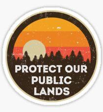 Protect Our Public Lands Sticker