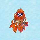 Grumpy Octopus Jelly Monster in the Sea by Shelly Still