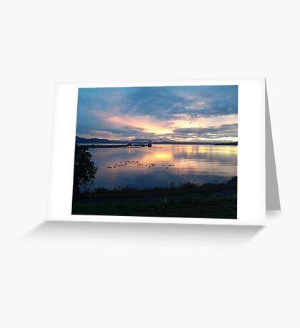 Quiet time on the Bay Greeting Card