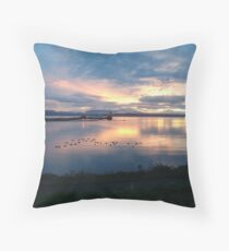 Quiet time on the Bay Throw Pillow