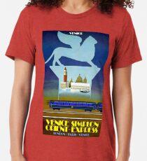 VENICE SIMPLON ORIENT EXPRESS; Travel Advertising Print Tri-blend T-Shirt