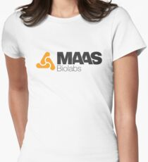 MAAS Biolabs Corporate Logo TShirt White Womens Fitted T-Shirt