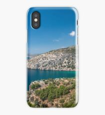 Island cliff wit turqoase color water iPhone Case/Skin