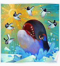 Run penguin run Poster