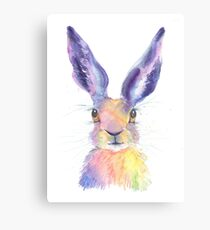Rainbow Hare Canvas Print