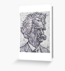 MARK TWAIN - ink portrait Greeting Card