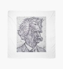 MARK TWAIN - ink portrait Scarf