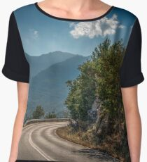 road curve in the mountain Women's Chiffon Top