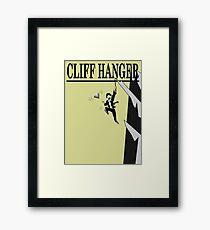 The Cliff Hanger Framed Print