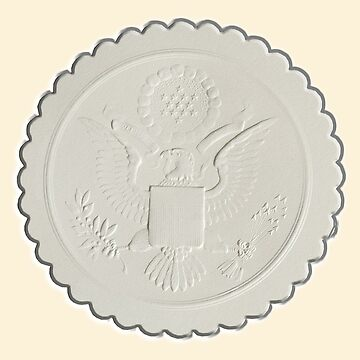 Great Seal, United States, America, American, Stamp, Seal, Emboss, approve by TOMSREDBUBBLE