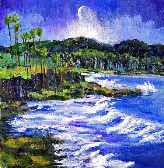 Blue Moon Over Laguna Beach by Randy Sprout
