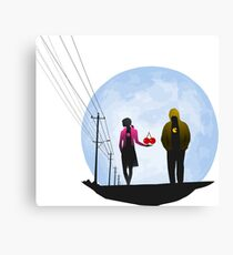 Pac Man and Ghost Canvas Print
