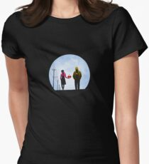 Pac Man and Ghost Women's Fitted T-Shirt