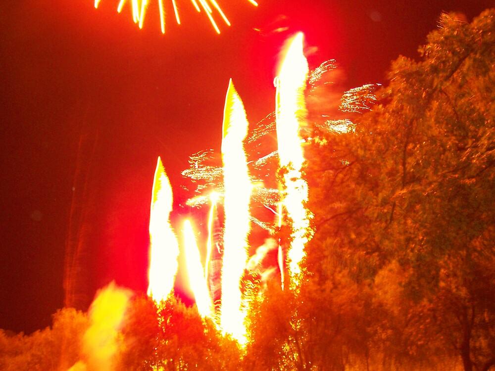Fire in sky by rosswilliams