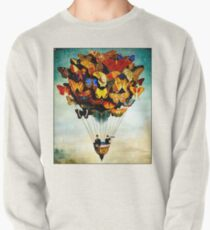 BUTTERFLY BALLOON : Vintage Abstract Painting Print Pullover