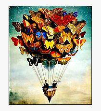 BUTTERFLY BALLOON : Vintage Abstract Painting Print Photographic Print