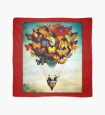 BUTTERFLY BALLOON : Vintage Abstract Painting Print Scarf