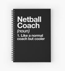 Cuaderno de espiral Netball Coach Funny Definition Entrenador Diseño de regalo