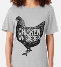 Chicken Whisperer Shirt Funny Farming Farm Poultry Gifts T-shirt for Farmers or Chicken Lovers Slim Fit T-Shirt