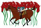 Run for the Roses Horse Racing Design on Apparel and Gifts by Ginny Luttrell