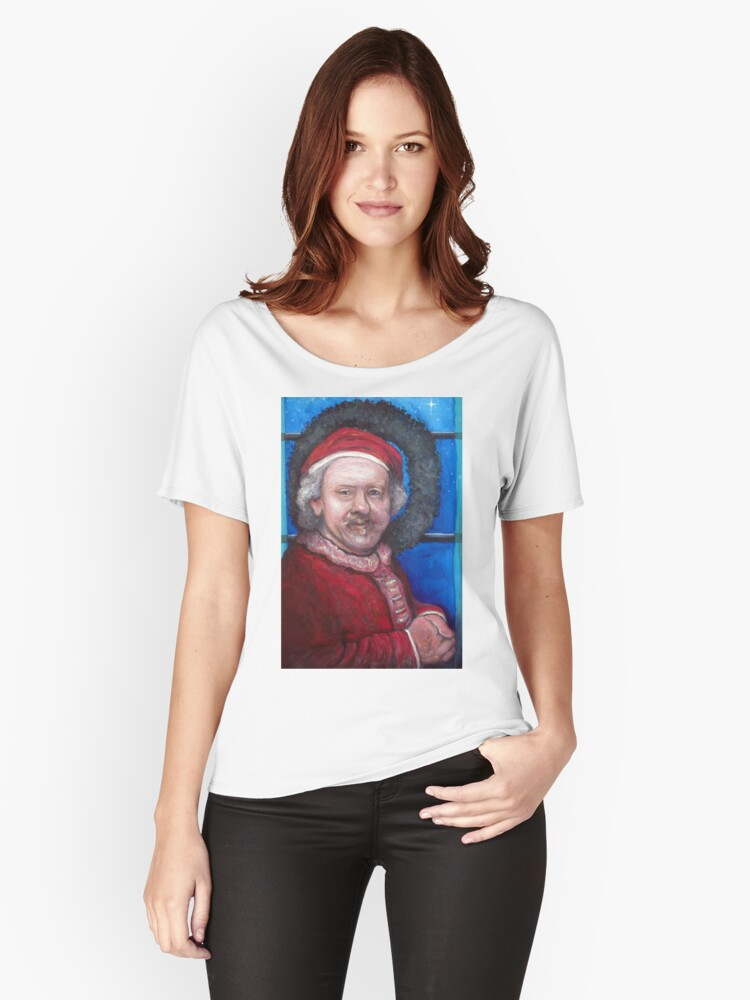 Rembrandt Santa Women's Relaxed Fit T-Shirt Front