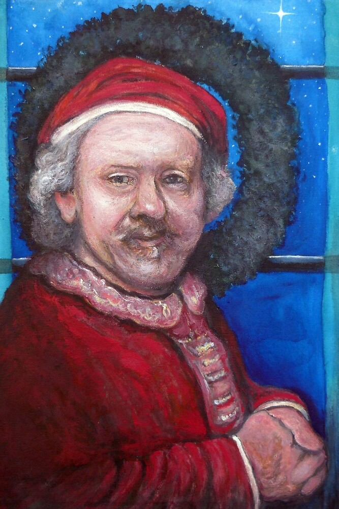 Rembrandt Santa by Tom Roderick