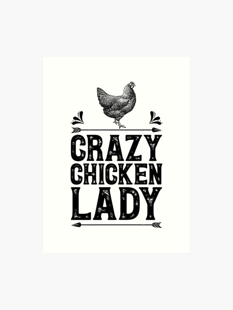 e3a6b61a0 Crazy Chicken Lady Shirt Funny Farming Farm Poultry Gifts T-shirt for  Farmers or Chicken