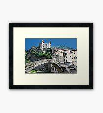 Dolceacqua village and castle Framed Print