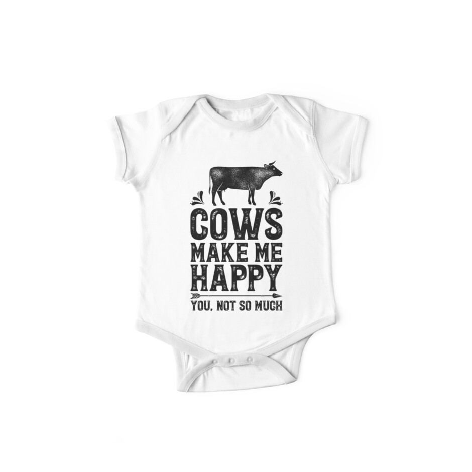 f8c2e902 Cows Make Me Happy You Not So Much Shirt Funny Farming Farm Gifts T-shirt  for Farmers or Cow Lovers