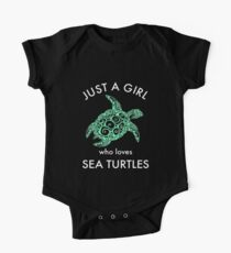 Just A Girl Who Loves Sea Turtles Sea Life Kids Clothes