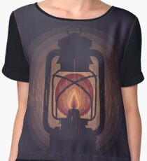 oil lamp Women's Chiffon Top