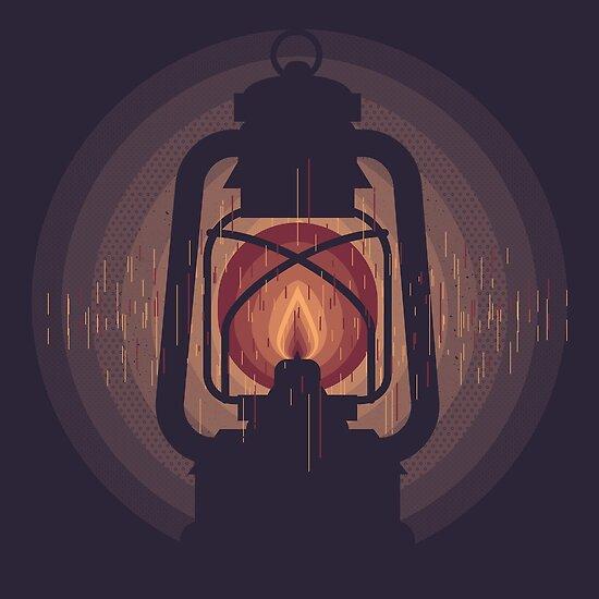 oil lamp by Johann Brangeon